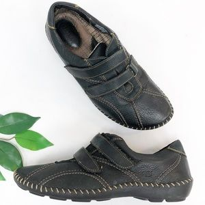 BORN | Brown Leather Velcro Casual Sneaker Shoe